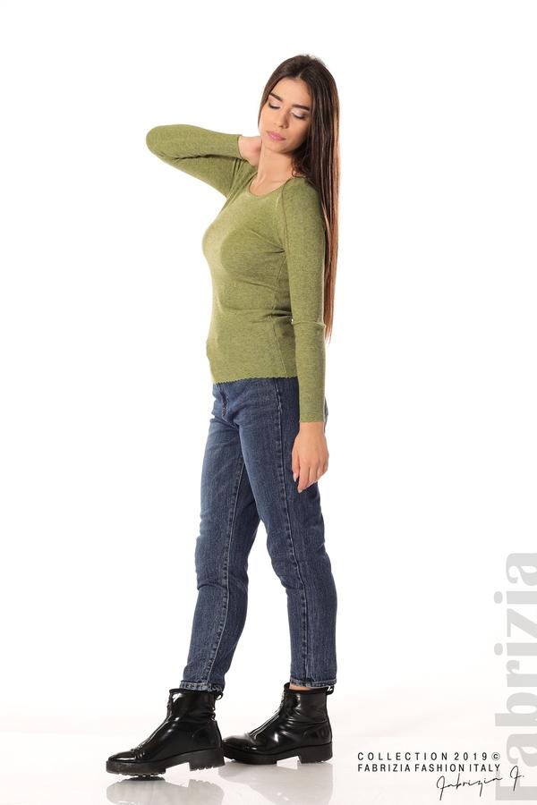 Дамска блуза с обло деколте зелен 3 fabrizia