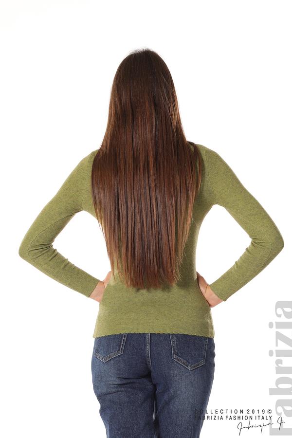 Дамска блуза с обло деколте зелен 5 fabrizia