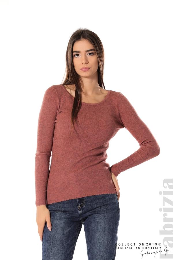 Дамска блуза с обло деколте корал 1 fabrizia