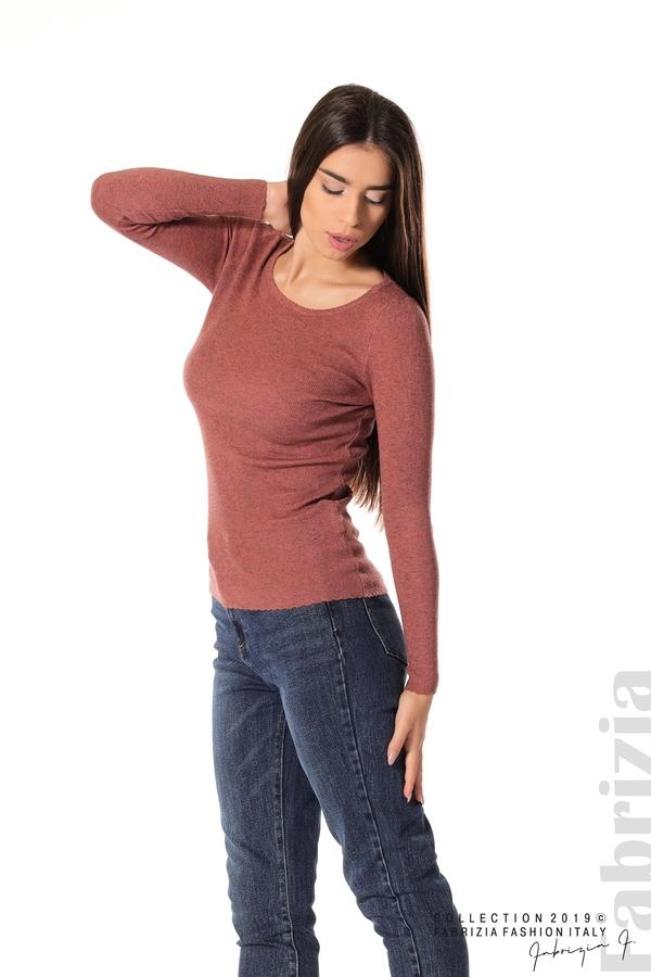 Дамска блуза с обло деколте корал 3 fabrizia