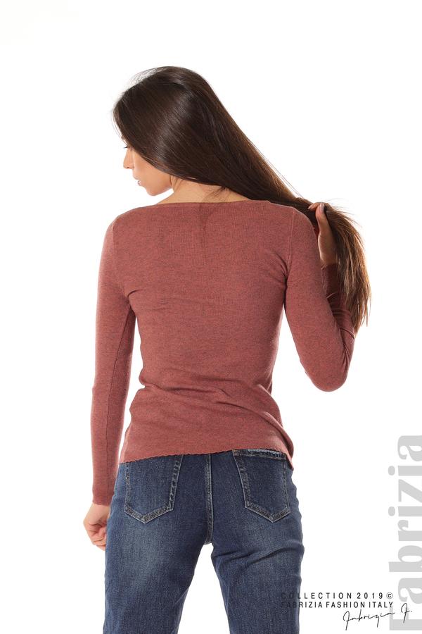 Дамска блуза с обло деколте корал 5 fabrizia