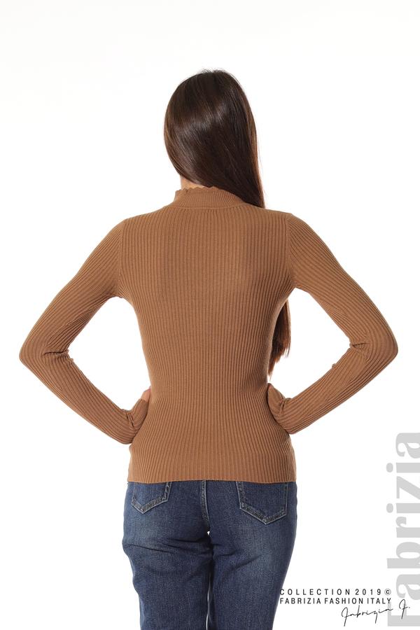 Блуза с елемент кафяв 5 fabrizia