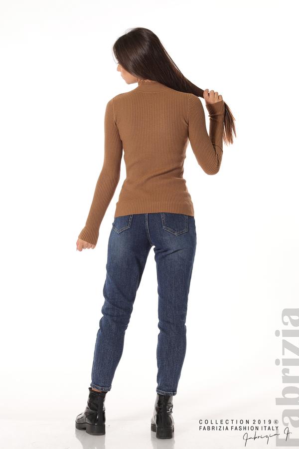 Блуза с елемент кафяв 4 fabrizia