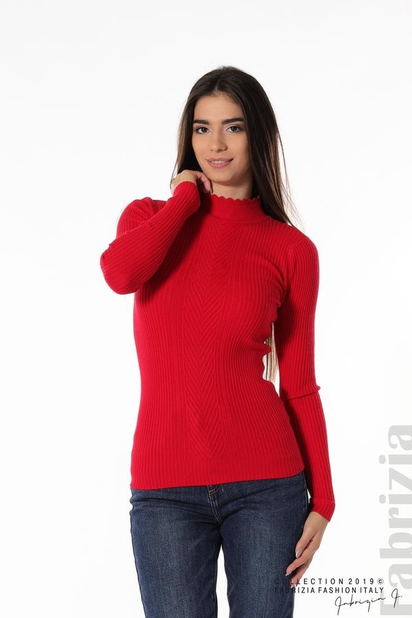 Блуза с елемент червен 1 fabrizia
