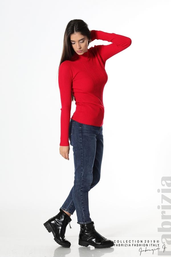 Блуза с елемент червен 2 fabrizia