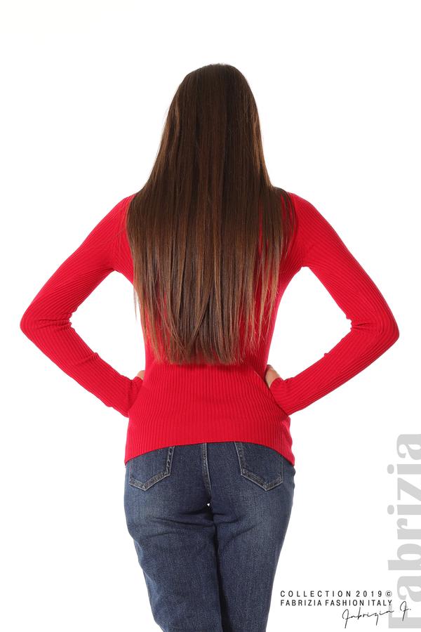Блуза с елемент червен 5 fabrizia