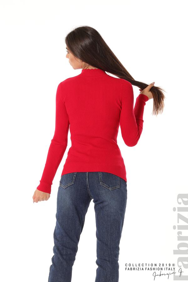 Блуза с елемент червен 4 fabrizia