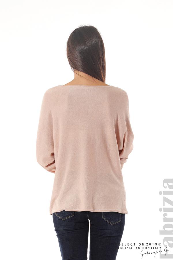 Изчистена блуза с ламе пудра 5 fabrizia