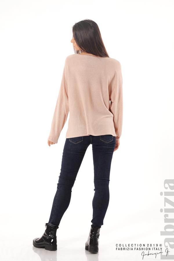 Изчистена блуза с ламе пудра 4 fabrizia