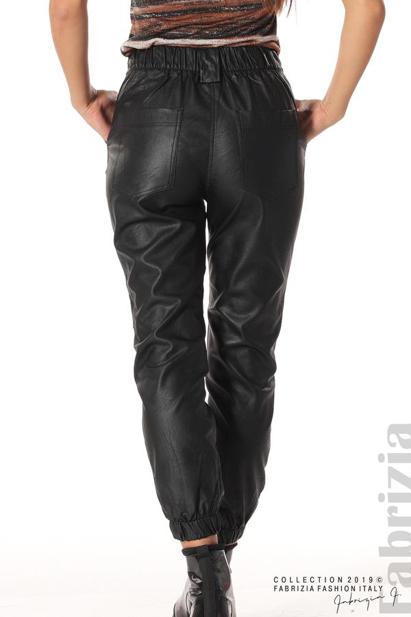 Кожен дамски панталон черен 6 fabrizia