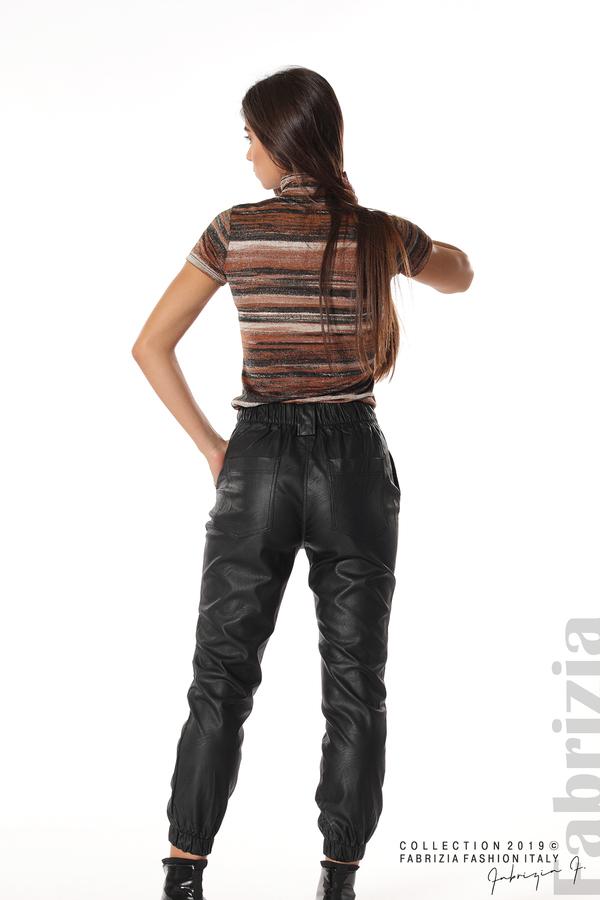 Кожен дамски панталон черен 5 fabrizia