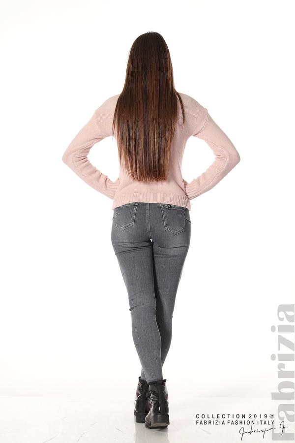 Дамска плетена блуза розов 5 fabrizia
