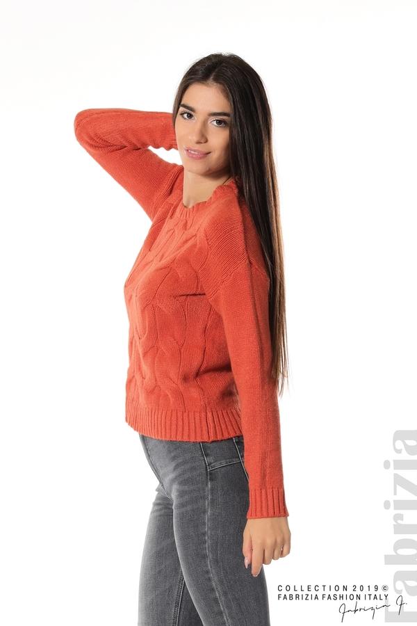 Дамска плетена блуза т.оранж 3 fabrizia