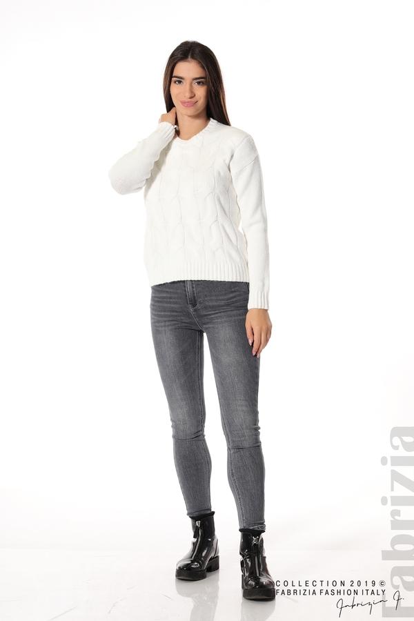 Дамска плетена блуза бял 3 fabrizia