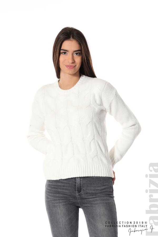 Дамска плетена блуза бял 1 fabrizia