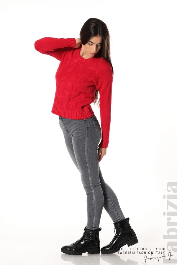 Дамска плетена блуза червен 2 fabrizia