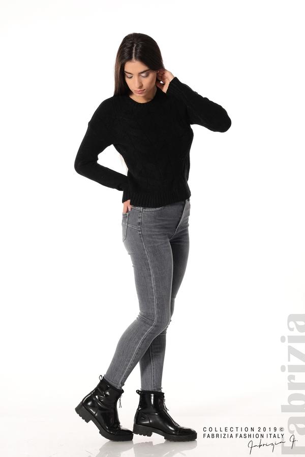 Дамска плетена блуза черен 3 fabrizia