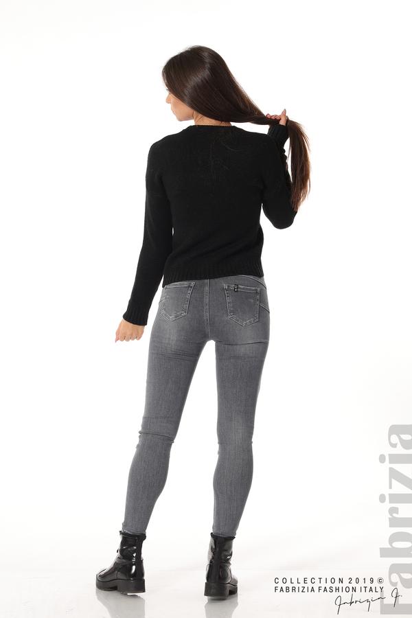 Дамска плетена блуза черен 4 fabrizia
