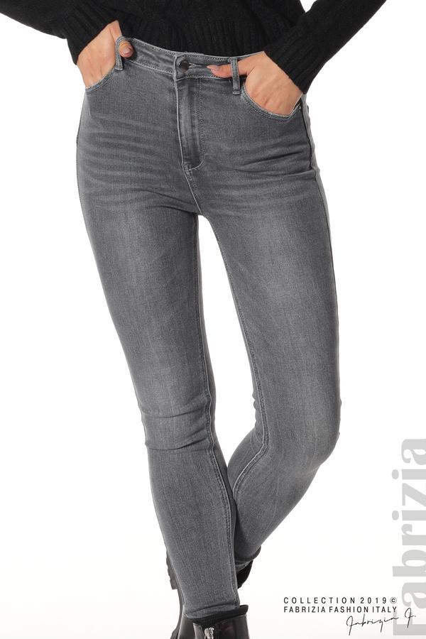 Дамски сиви дънки 3 fabrizia