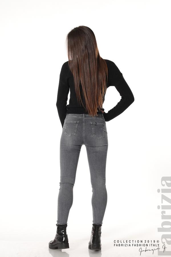 Дамски сиви дънки 7 fabrizia