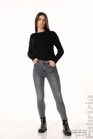 Дамски сиви дънки