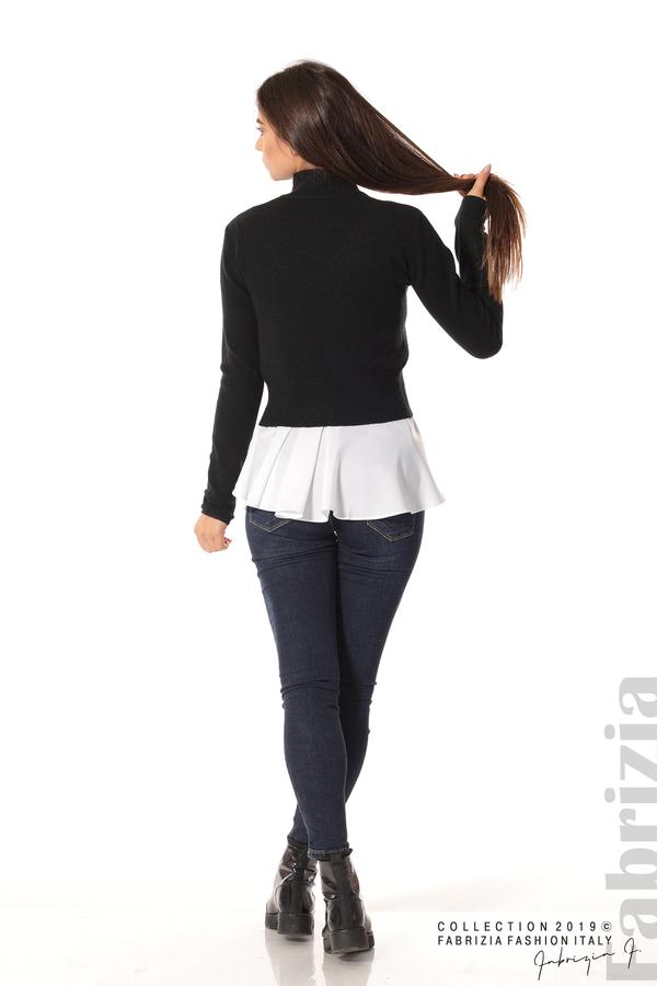 Ефектен комплект топ и блуза черен 3 fabrizia
