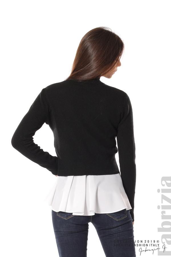 Ефектен комплект топ и блуза черен 4 fabrizia