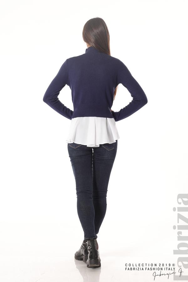 Ефектен комплект топ и блуза т.син 5 fabrizia