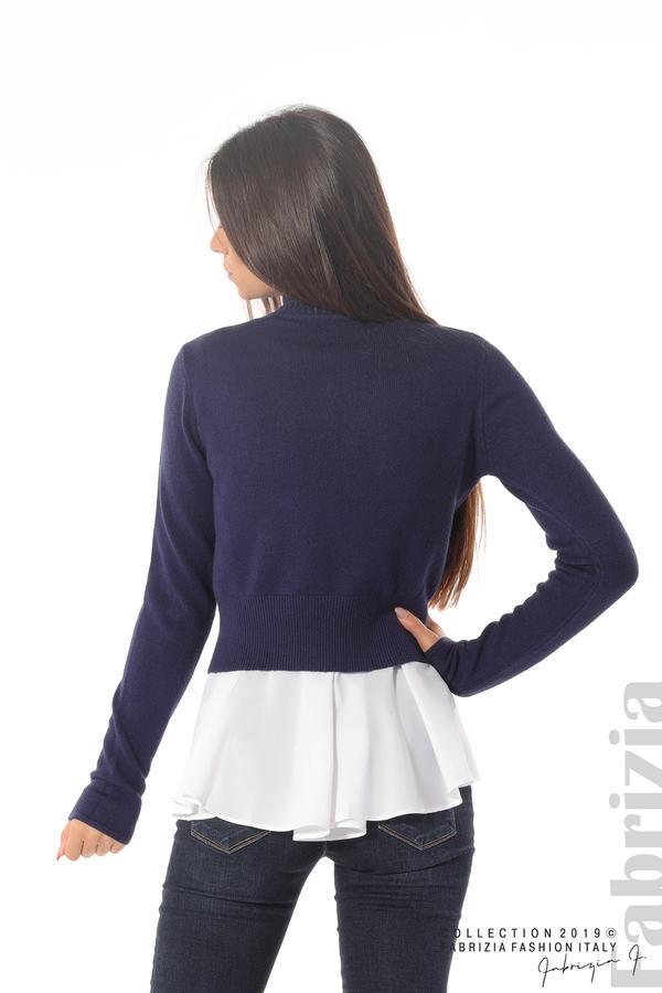 Ефектен комплект топ и блуза т.син 6 fabrizia