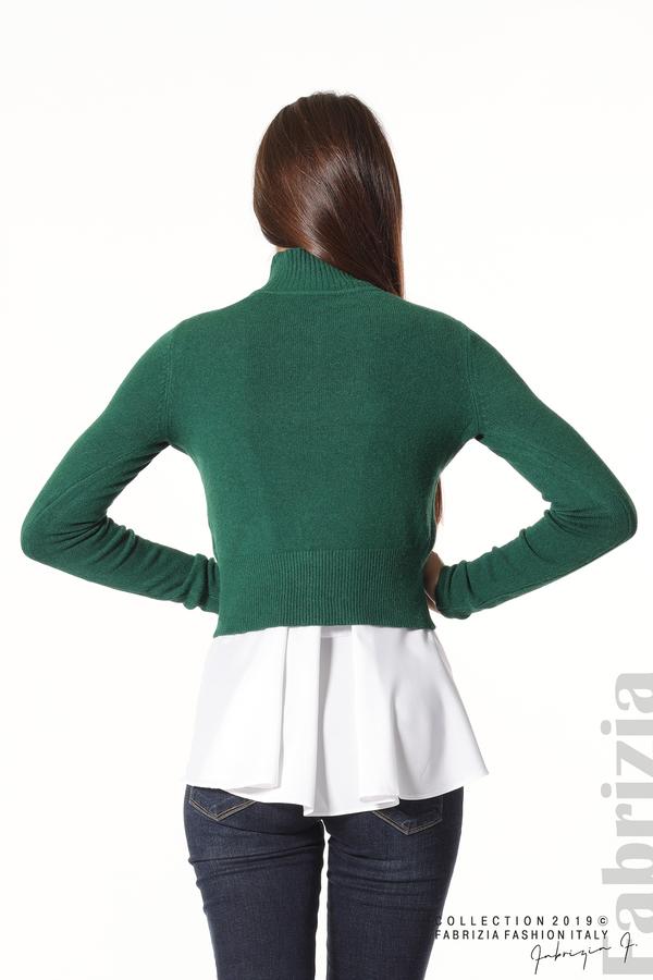Ефектен комплект топ и блуза т.зелен 5 fabrizia