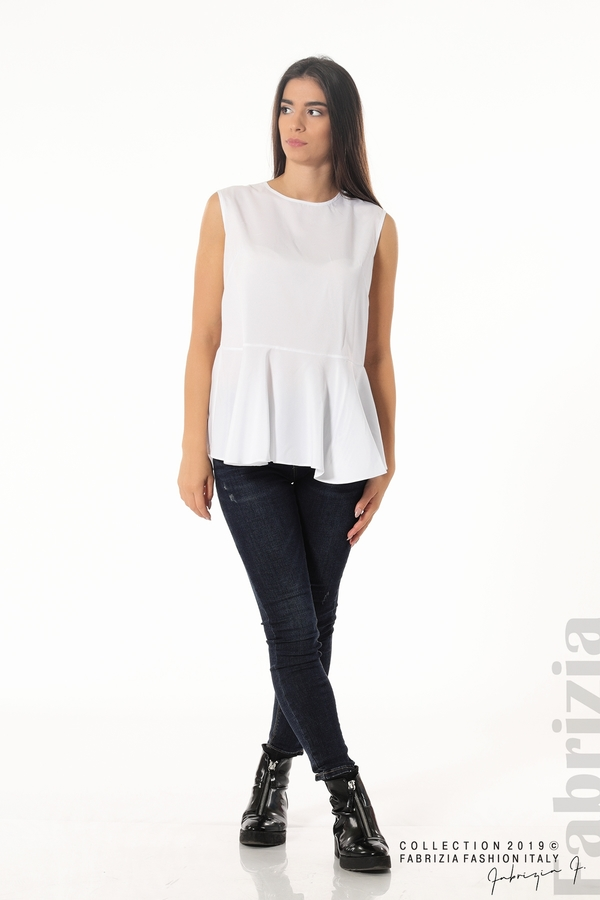 Ефектен комплект топ и блуза кафяв 3 fabrizia