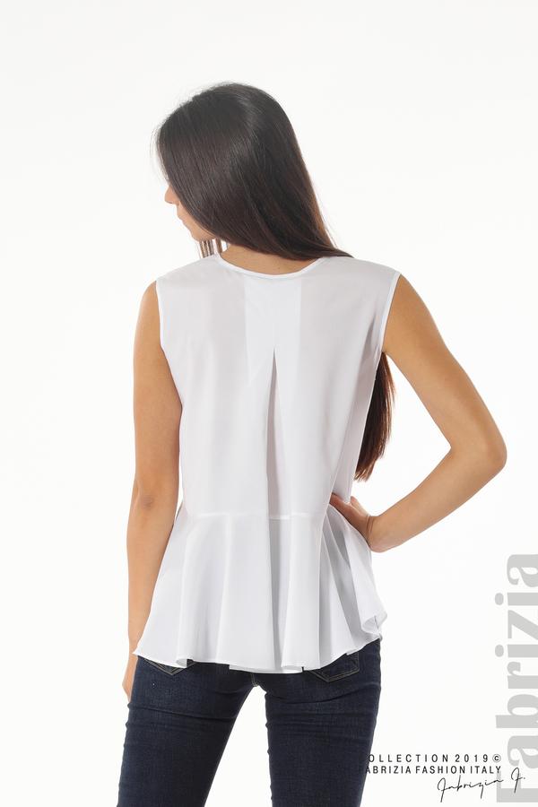 Ефектен комплект топ и блуза кафяв 5 fabrizia
