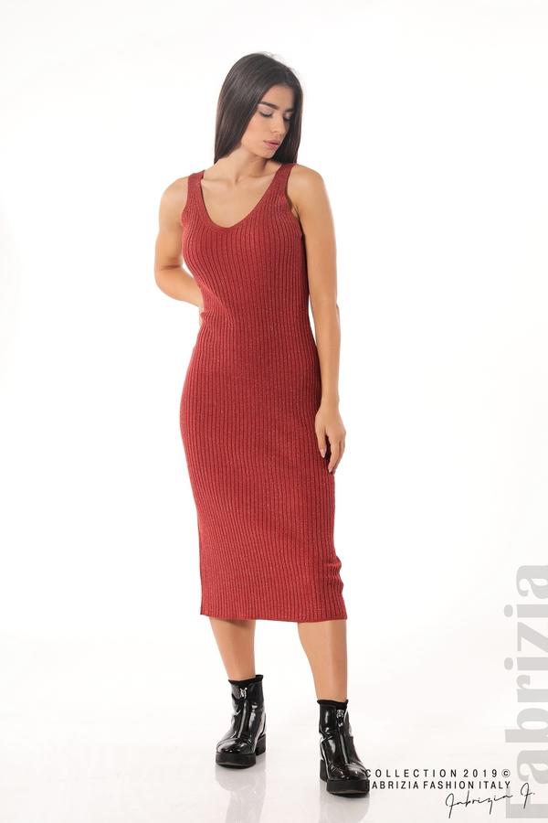 Комплект рокля и блуза с ламе керемида 3 fabrizia