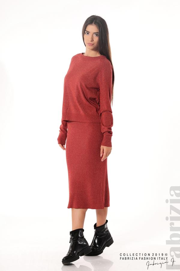 Комплект рокля и блуза с ламе керемида 5 fabrizia