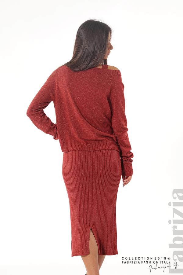 Комплект рокля и блуза с ламе керемида 6 fabrizia