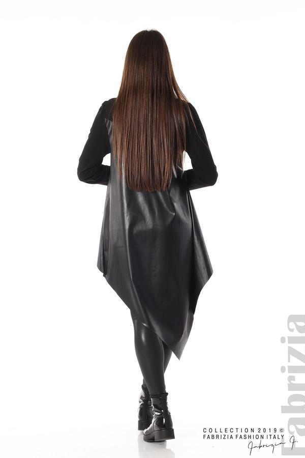 Дамска туника с кожа черен 5 fabrizia
