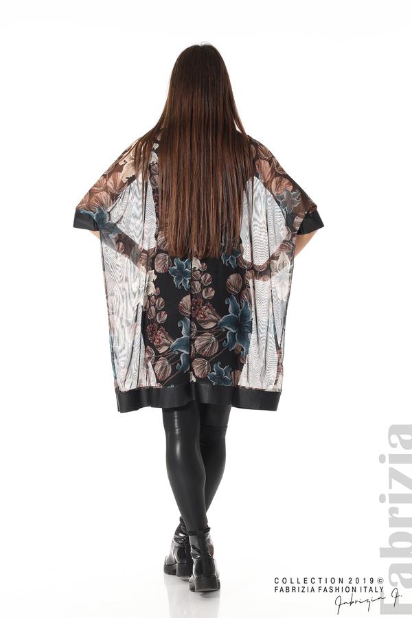 Ефирна дамска рокля на цветя черен 4 fabrizia