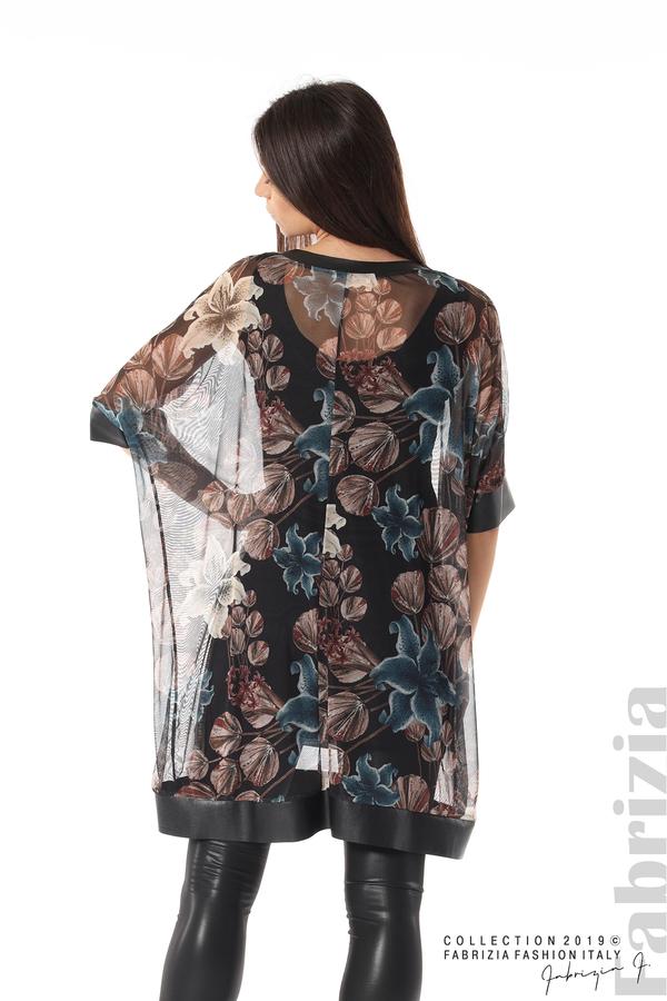 Ефирна дамска рокля на цветя черен 5 fabrizia