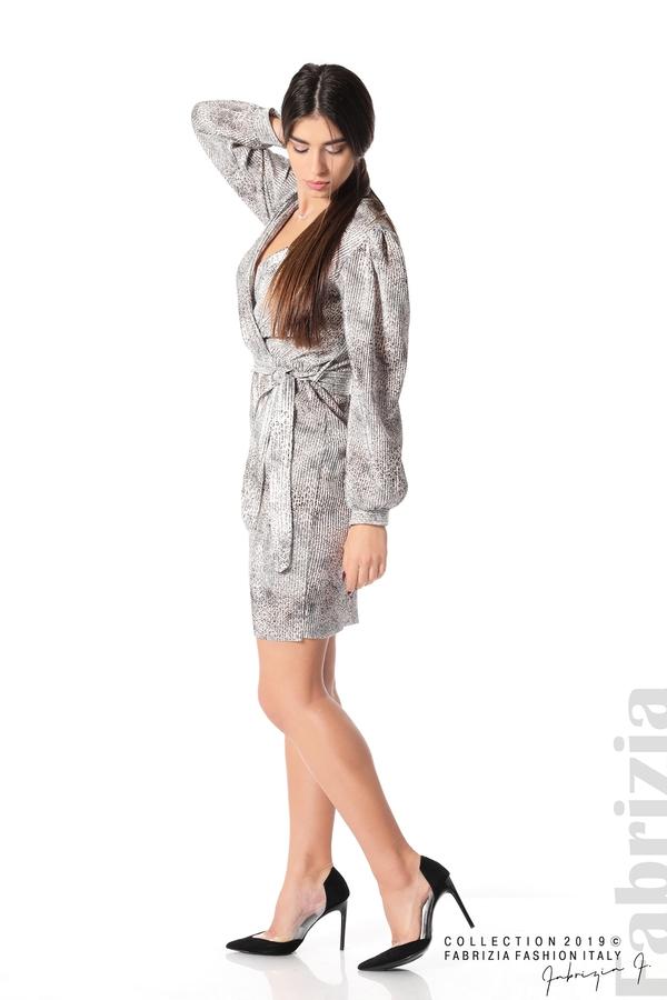 Дамска къса рокля бежов 1 fabrizia