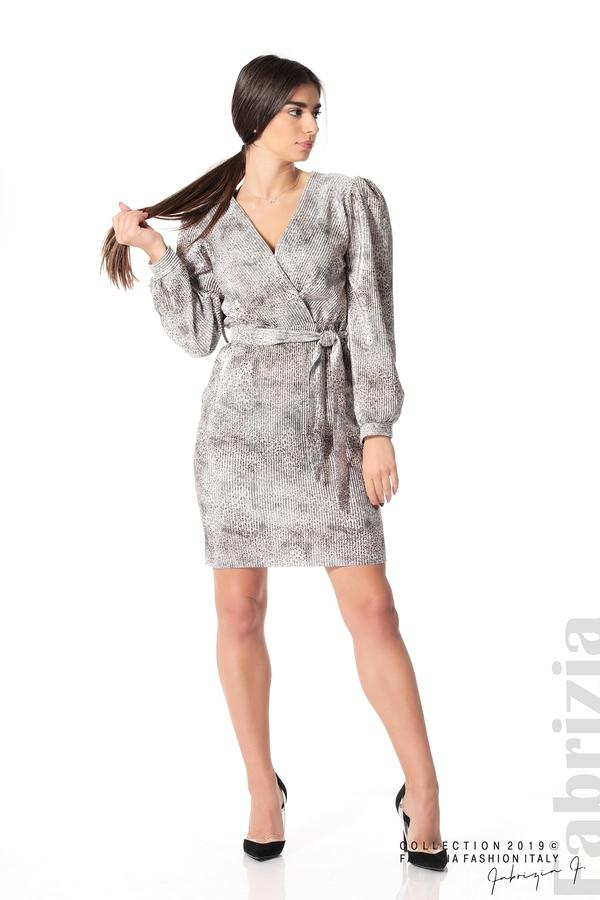 Дамска къса рокля бежов 3 fabrizia