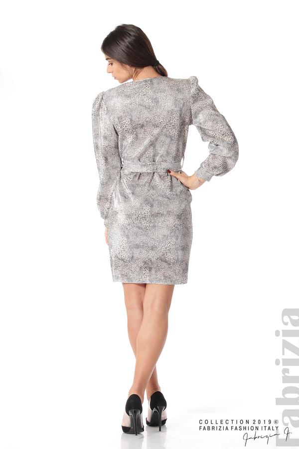 Дамска къса рокля бежов 5 fabrizia