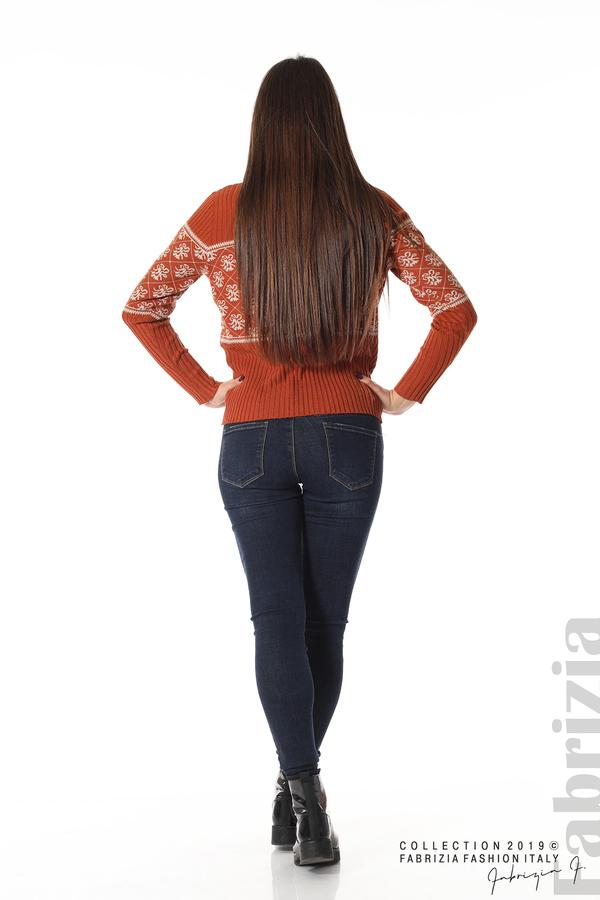 Блуза с флорална мрежа керемида 5 fabrizia