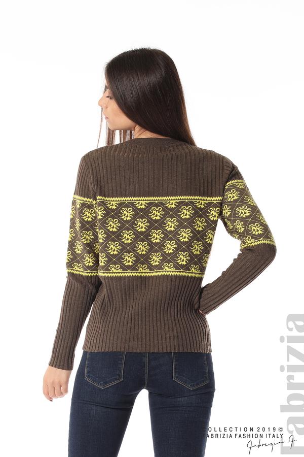 Блуза с флорална мрежа т.кафяв 6 fabrizia