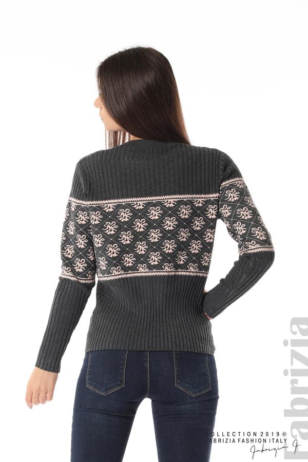Блуза с флорална мрежа сив 5 fabrizia