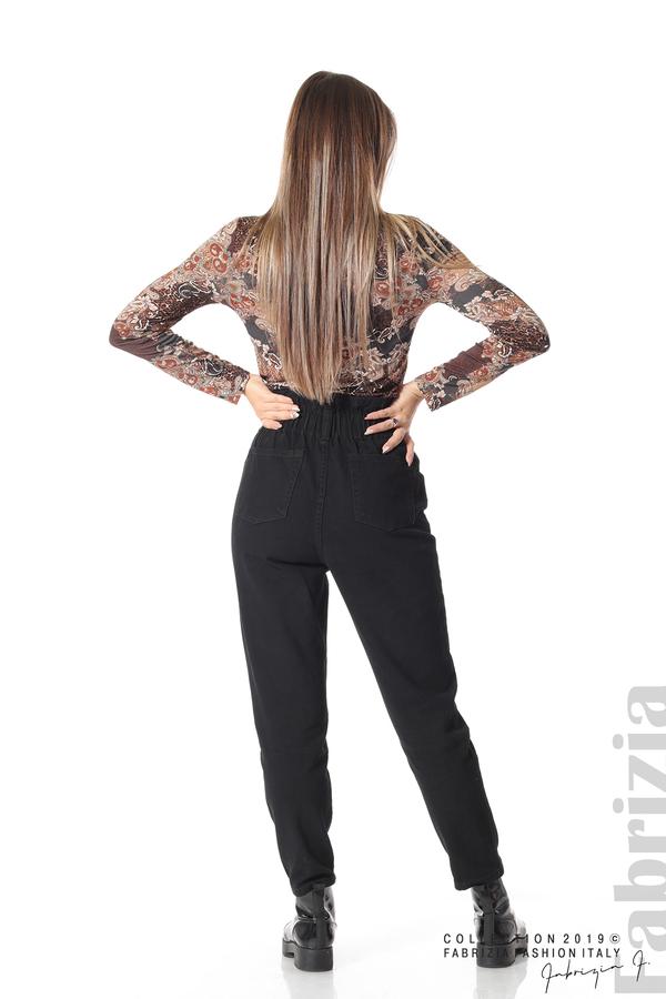 Дамски  дънки с висока талия черен 5 fabrizia