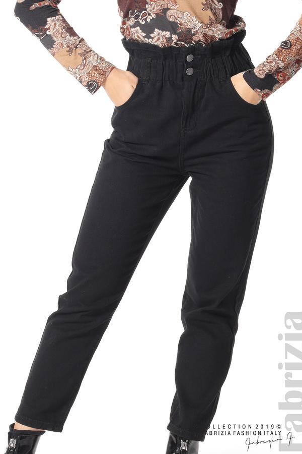 Дамски  дънки с висока талия черен 3 fabrizia