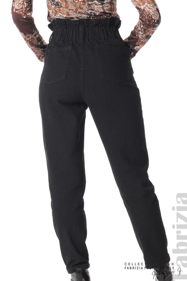 Дамски  дънки с висока талия черен 6 fabrizia
