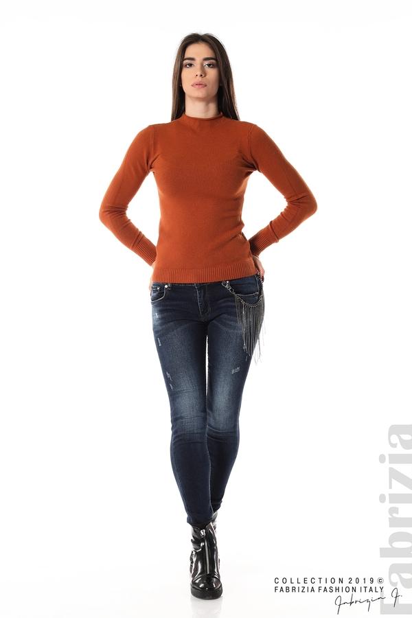 Ежедневна дамска блуза кафяв 2 fabrizia