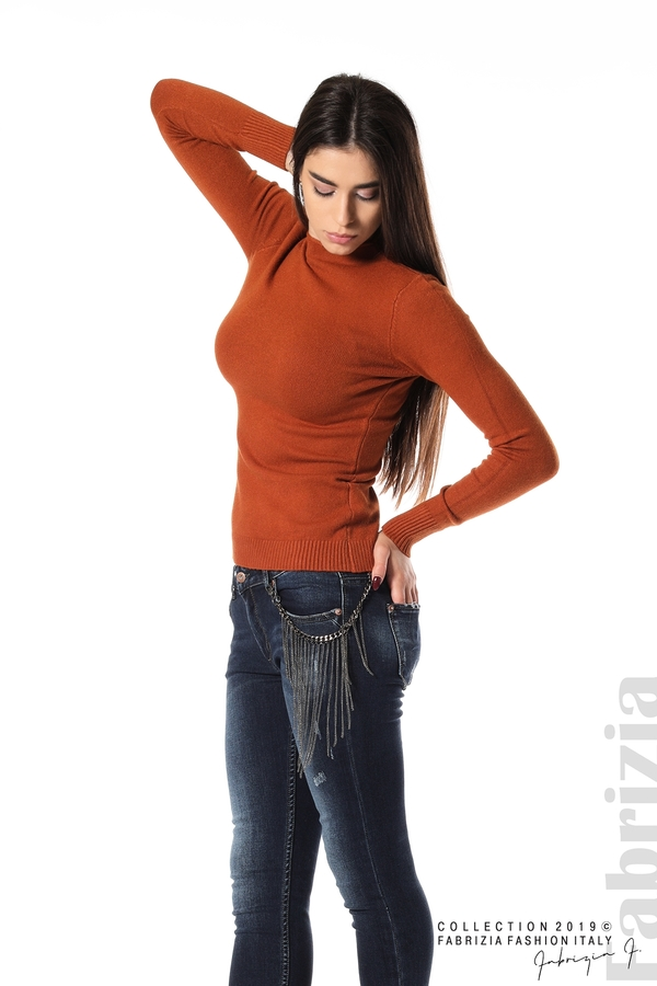 Ежедневна дамска блуза кафяв 3 fabrizia