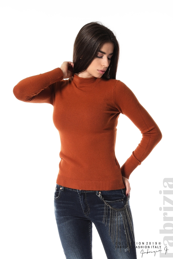 Ежедневна дамска блуза кафяв 1 fabrizia